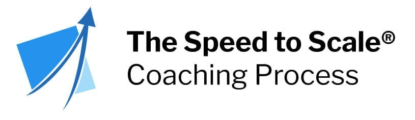 Speed to Scale Coaching Process featuring the Predictable Profits logo
